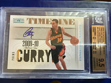 2009 -10 STEPHEN CURRY NATIONAL TREASURES TIMELINE PRIME AUTO 10/25 BGS 9.5