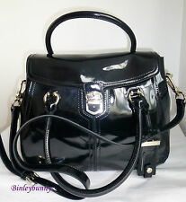 KAREN MILLEN Black Shiny Patent Leather MAXI Bag BNWT Large £225 Dust Bag GR033