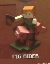 ! Minecraft Craftables Buildable Pig Rider Series 1 Sealed Unopened in Box