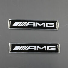 2pcs AMG 3D Metal Refitting Side Fender Emblem Sticker Badge F007