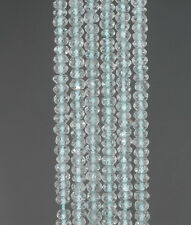 """3X2MM SKY BLUE TOPAZ  GEMSTONE GRADE AA FACETED RONDELLE LOOSE BEADS 13.5"""""""