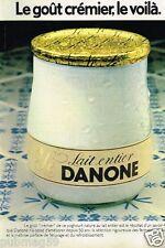 Publicité advertising 1978 Dessert Yaourt Le Danone