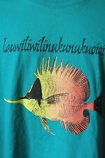 Lauwiliwilinukunukuoioi Longnose Butterfly Fish T-Shirt Green 3XL Small Hawaii