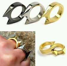 TWO PACK Self-Defense Ring Concealed Carry Window Breakr Fashion Tactical Pocket