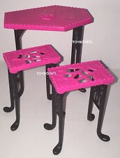 Monster High Beast Bites Cafe Playset Furniture Pub Table Chairs NEW Creepateria
