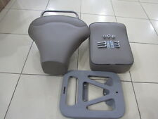 SEAT  SET GREY WITH CHROME HANDLE VESPA VBB GL VNA VNB 125 150 SPRINT SUPER