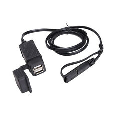 40'' 5V 2.1A ATV Motorcycle SAE Cable Plug to Dual USB Adapter Charger GPS Phone