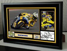 """Valentino Rossi Tribute Framed Canvas Signed Print  doc trib No2  """"Great Gift"""""""