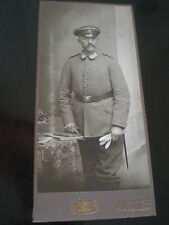 Cdv cabinet photograph soldier by William Roth at Berlin Germany c1900s