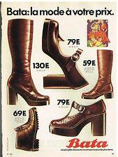 Publicité Advertising 1974 Les chaussures bottes escarpins Bata