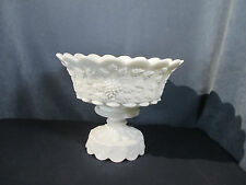 Punch Bowl Westmoreland Milkglass Vintage Panel Grape Pedestal Wedding Holiday