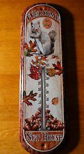 WELCOME TO THE NUT HOUSE Squirrel Indoor / Outdoor Thermometer Home Decor NEW
