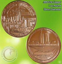 Freedom Tower 1 oz .999 Copper Round