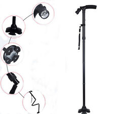 Adjustable Anti-Shock Dependable Folding Cane with Built-in Light Walking Stick