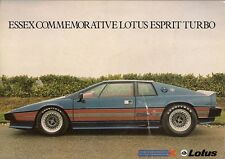 Lotus Esprit Turbo Essex Edition 1981 UK Market Leaflet Sales Brochure