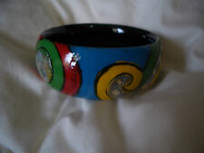 Stunning wood and MOP cuff bangle. Handcrafted from Vietnam.
