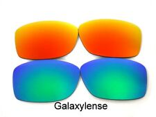 Galaxy Replacement Lenses For Oakley Jupiter Squared Green/Red Polarized 2Pair