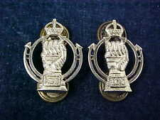 Orig WW2 Pair Of Officers Collar Badges RCAC Scully Montreal Armoured Corps