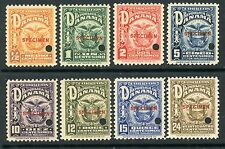 PANAMA 1924 ARMS ISSUE with SPECIMEN OVERPRINTS #234-41