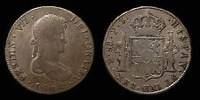 pci1268) SPAIN Ferdinando VII 8 Reales 1808 Potosi P.J. Toned old collection