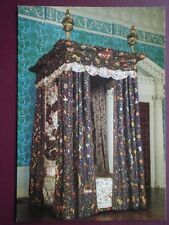 POSTCARD DERBYSHIRE CALKE ABBEY - 18TH CENTURY STATE BED NATIONAL TRUST