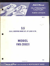 1968 / 3.5 SEA KING BY CHRYSLER OUTBOARD PARTS MANUAL / MONTGOMERY WARD / MW-20