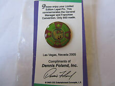 Rare Chuck E Cheese 2005 Las Vegas General Manager Pin New In Bag