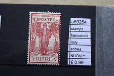 FRANCOBOLLI ITALIA COLONIE ERITREA NUOVI** STAMPS ITALY MNH** (A59264)
