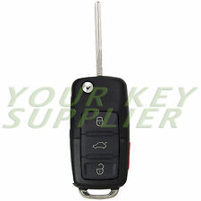 Uncut Golf Jetta Passat Beetle Remote Flip Key Fob Transmitter for VW Volkswagen