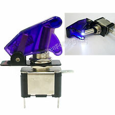 1 x White LED Purple Missile Style Toggle Flick Switch 12V 20A ON/OFF Car Boat