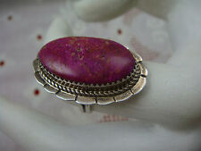 NAVAJO BRUGH TSOSIE BT (OLD SIG) PURPLE SUGILITE SIZE 5.75 STERLING SILVER RING