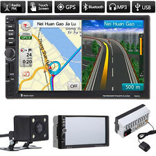 """7"""" Double 2DIN Car MP3 MP5 Player Bluetooth Touch GPS Navi USB/TF/AUX + Camera"""