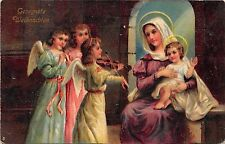 BG20338 children  angel playing violin baby jesus weihnachten christmas  germany