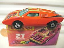 LESNEY MATCHBOX MB27B RED LAMBORGHINI COUNTACH GRN Wins Black Base GREY Int MB*