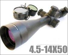 Hunting Scope w/ Mounts 4.5-14X50 M1 Mil-dot Illuminated Riflescopes Rifle Scope