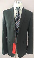 NWT $995 HUGO Boss Red Label Supergraphite Suit 44R Grey Super130 Aeron1/hamen1