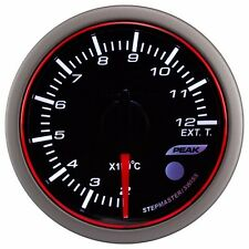52mm 3 Colors LED Electrical Exhaust Gas Temp Gauge with Warning and Peak