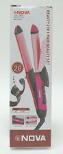 NOVA Professional 2 in 1 HAIR Ceramic Beauty Set Curler Straightener NHC2009