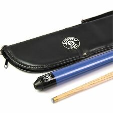 Jonny 8 Ball 48 inch BLUE JET JUNIOR 2pc Ash Pool Snooker Cue & SOFT CASE