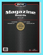 "100 BCW MAGAZINE SIZE 8.5"" x 11"" BACKING BOARDS Storage White Backer 24pt 8-1/2"""