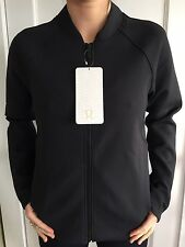 Lululemon Size 8 Embrace The Space Jacket Black Sweat Relaxed Define Thermo