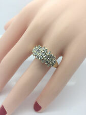 10mm Wide Band Diamond Wedding Statement Ring 10K Two Tone Gold SI-G 1.00 Carats
