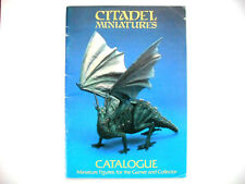Oop citadel/warhammer miniatures 1983 dragon bleu catalogue