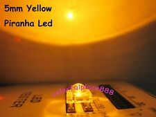 100pcs 5mm Yellow Piranha Super Flux LED Dome Wide Angle Super Bright Leds 4-Pin