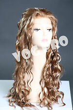 Lace front wig long length curly Maggie