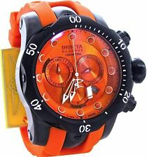 New Mens Invicta 11969 Venom Swiss Made Chronograph Orange Dial Watch