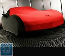 2005-13 Corvette Outdoor Indoor Car Cover Black & Red GM 19158378