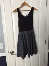 Kimchi Blue Urban Outfitters Gray/Black Ribbed Pleated Skirt Sundress size 6