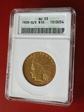 Extremely Rare And Highly Collectible 1909 S/S $10 Gold Eagle, Indian Design