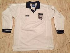 vintage umbro retro england national team 93-95 soccer jersey shirt size L